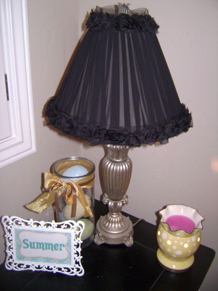 black lace Rosette lamp shade