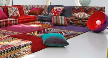 bohemian mah jong sofa