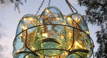 bouquet of mason jars pendant light diy for outdoor