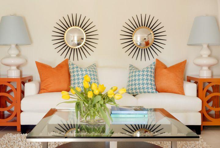 bright retro modern decor
