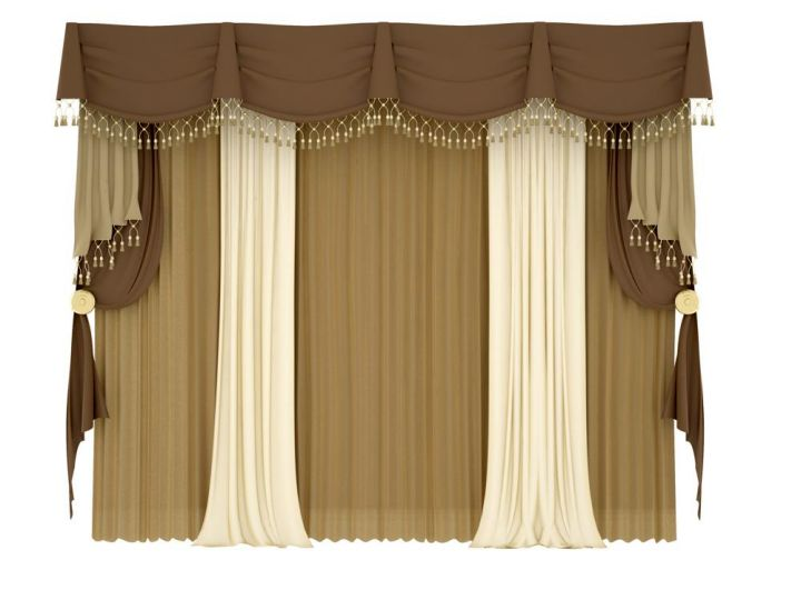 brown Kingston pole swag types of valances