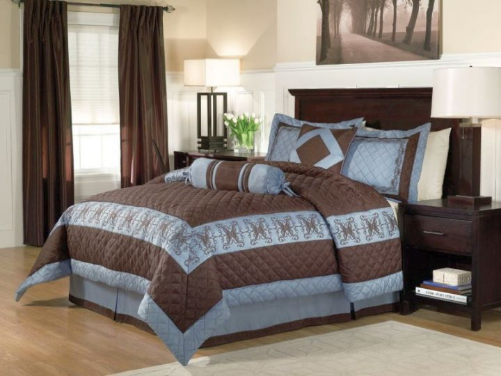 17 romantic brown and blue bedroom ideas for Chocolate brown and blue bedroom ideas