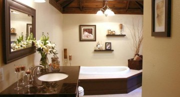 brown bathrooms for small house