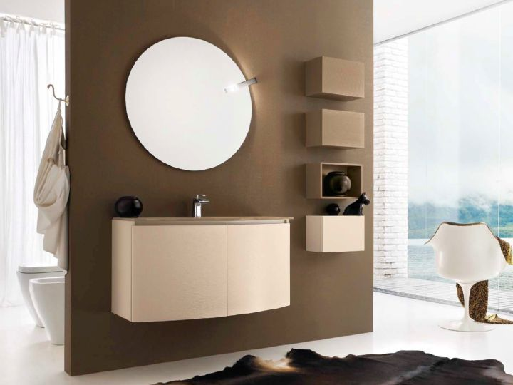 brown bathrooms in matte taupe brown