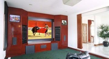 built in TV for media rooms