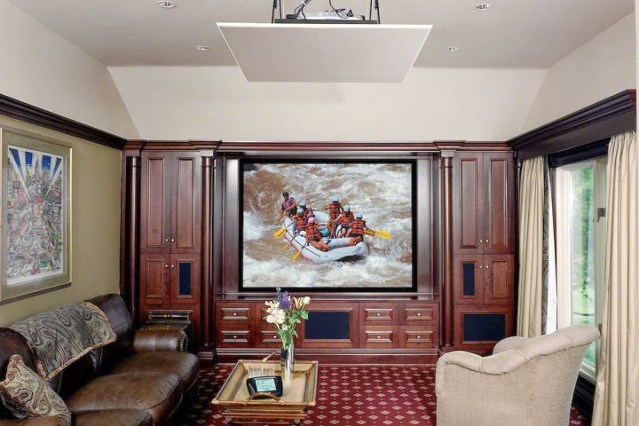 built in TV for small media room