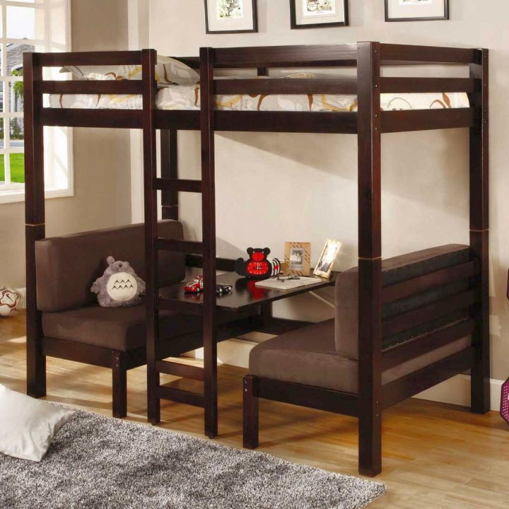 Bunk Bed For Adults With Desk And Sofa Underneath