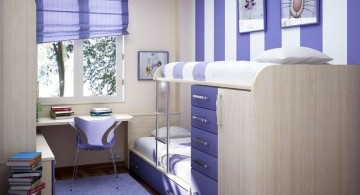 bunk bedroom ideas in white and blue