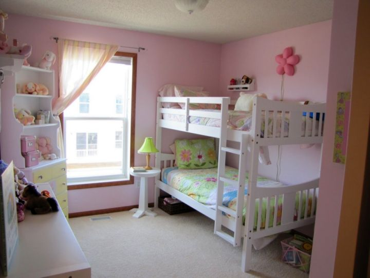 bunk bedroom ideas in white