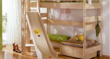 bunk bedroom ideas with a slide