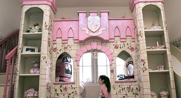 castle designed bunk bedroom ideas