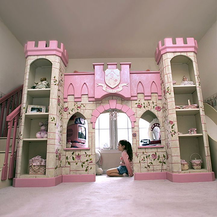 castle designed bunk bedroom ideas