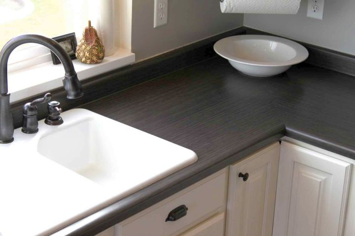cheap countertop solution using concrete slab