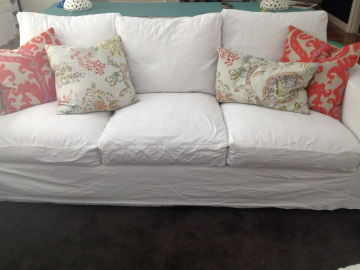 classic high end slipcover in silk