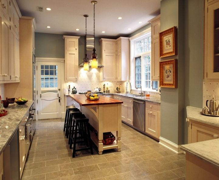classy hanging kitchen light for narrow kitchens