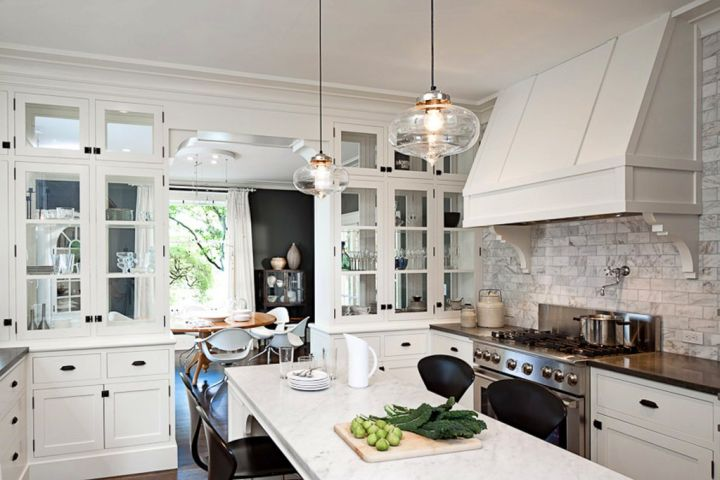 classy hanging kitchen light