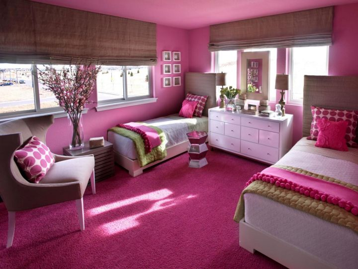 gallery for hot pink rooms decorating ideas - Hot Bedroom Designs