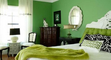 classy lime green bedroom
