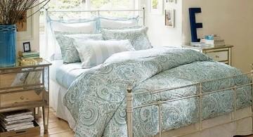 classy retro bedroom ideas and paisley bedding