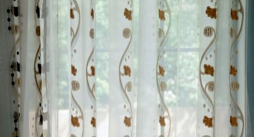 close up sheer curtains privacy pattern