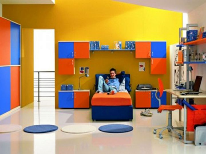 colorful Boys room color