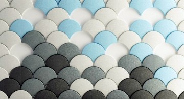 colorful fish scales unique wall panels