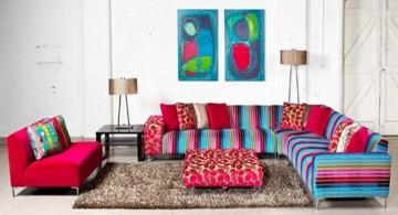 colorful mah jong sofa