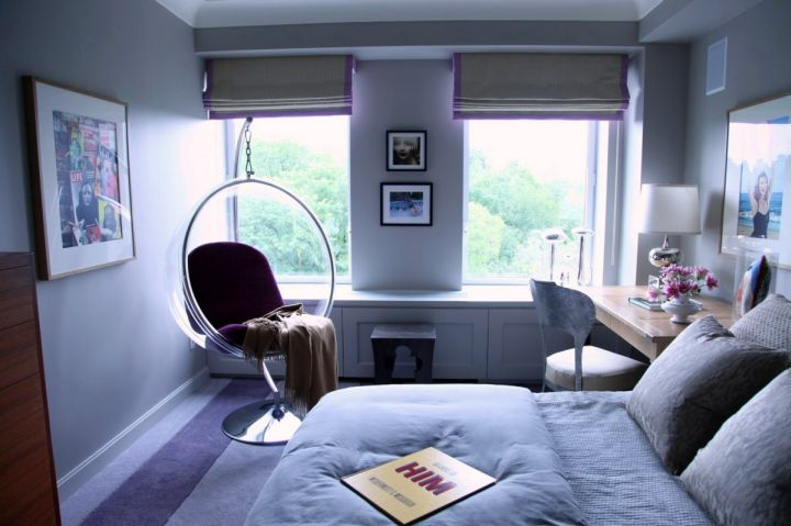 contemporary bedroom swings