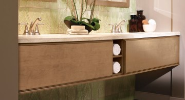 contemporary elegant floating sinks