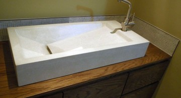 contemporary floating sinks