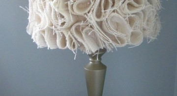 contemporary fringed Rosette lamp shade