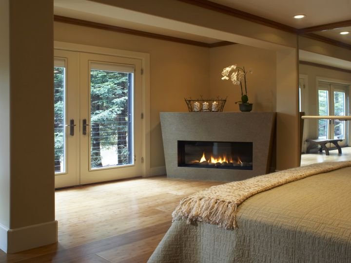 18 modern gas fireplace for master bedroom design ideas for Master bedroom corner fireplace