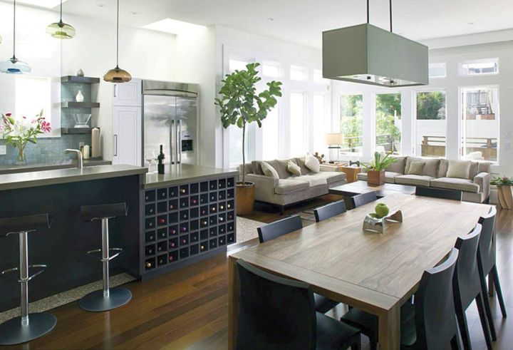 contemporary glass hanging kitchen light