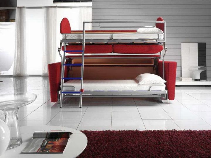 contemporary industrial bunk bed for adults