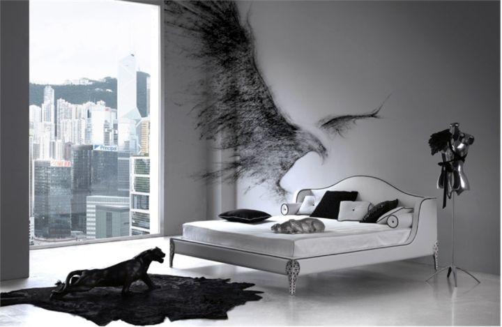 contemporary minimalist Gothic bedrooms