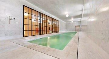 contemporary minimalist enclosed swimming pool