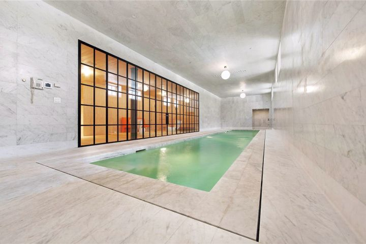 contemporary minimalist enclosed swimming pool