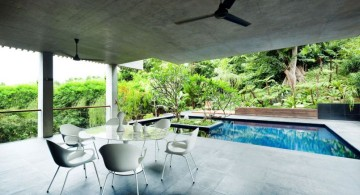 contemporary pool for small yard with patio