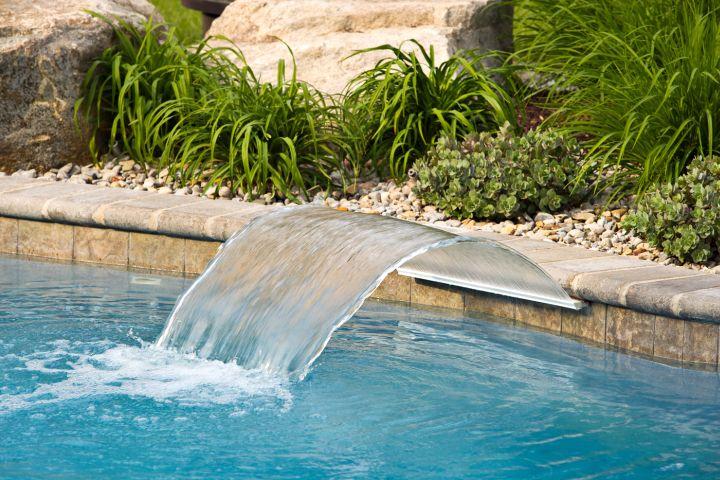 Pool Waterfall Ideas swimming pool waterfall ideas Stone Wall For Pool Waterfall Ideas