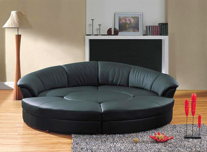 contemporary round bed frame