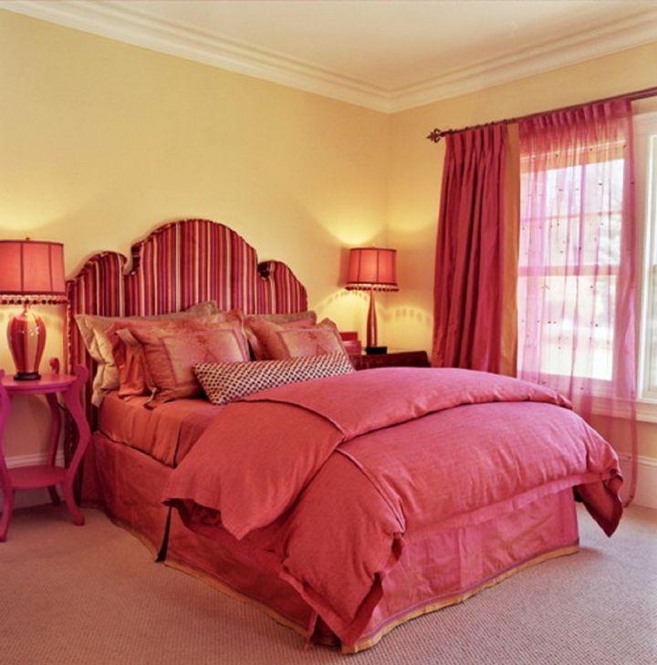 cozy hot pink room