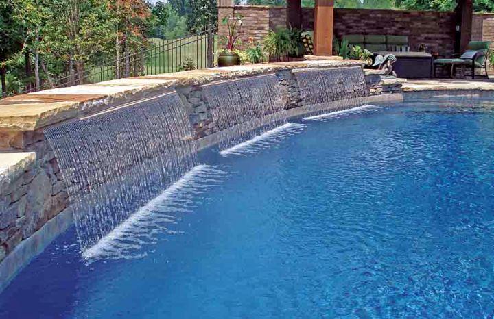 curtain pool waterfall ideas