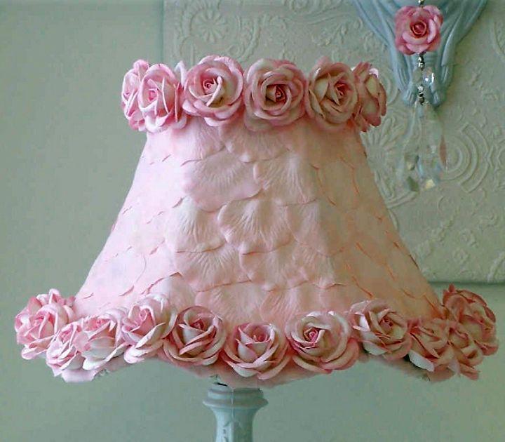 cute pink Rosette lamp shade