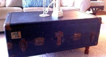 dark blue trunk coffee table