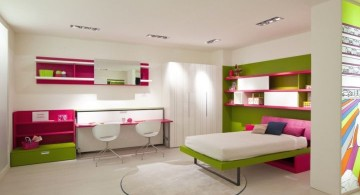 desk and bed combination for spacious room