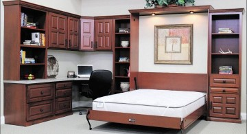 desk and bed combination with Murphy bed