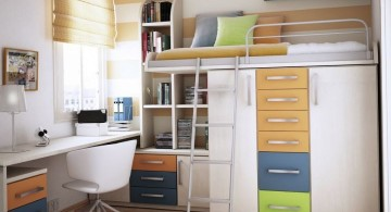 desk and bed combination with bunk beds and storage
