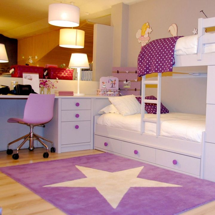 18 desk and bed combination ideas for teenagers 39 rooms for Rugs for kids bedrooms