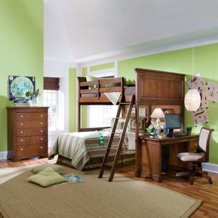 Bedroom Colours Designs Bedroom Storage Bedroom Wall Paint Colour Ideas Bedroom Wall Decor Canada: 18 Desk And Bed Combination Ideas For Teenagers' Rooms
