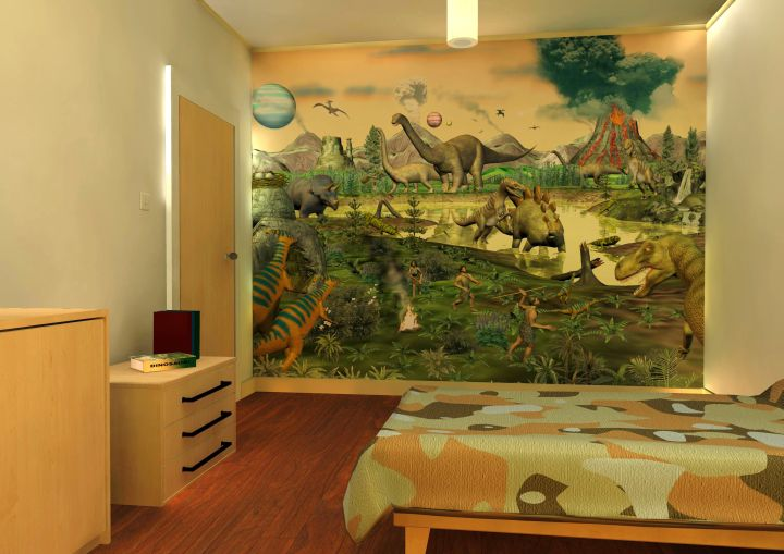 17 awesome dinosaur wallpaper mural designs